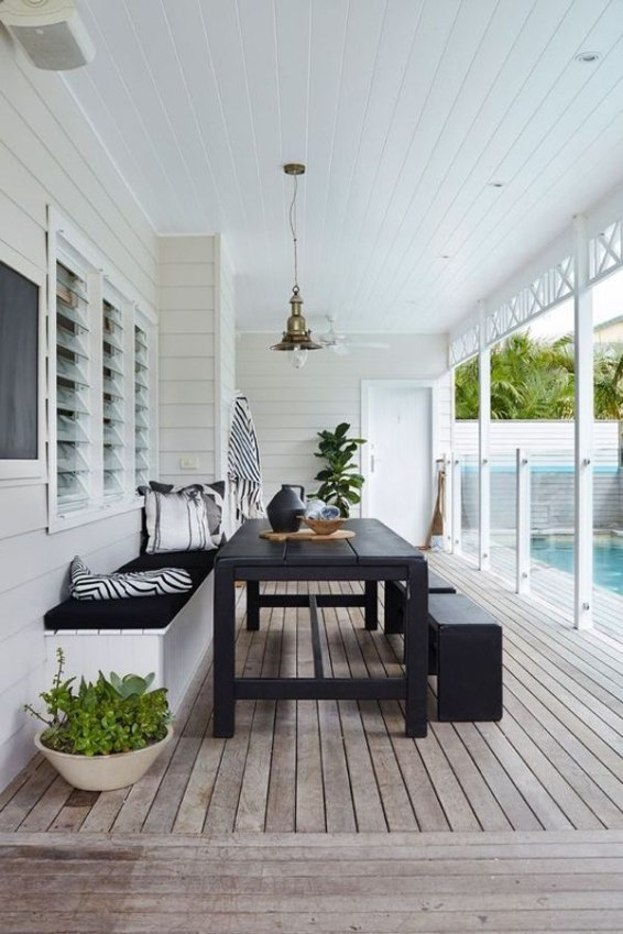 Beautiful Indoor And Outdoor Beach Dining Spaces Ideas To Copy Asap 39