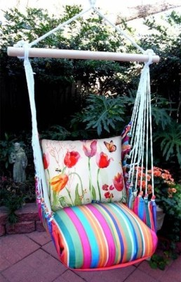 Creative Swing Chairs Garden Ideas That Looks Adorable 18