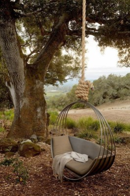Creative Swing Chairs Garden Ideas That Looks Adorable 21