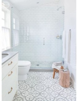 Enjoying Small Bathroom Floor Tile Design Ideas To Inspire You 37