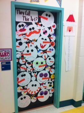 Inspiring Diy Christmas Door Decorations Ideas For Home And School 40