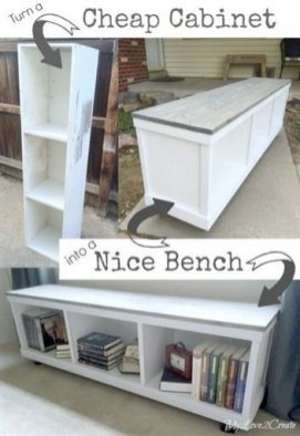 Latest Diy Storage Bench Design Ideas For Your Unique Living Room Decoration 26