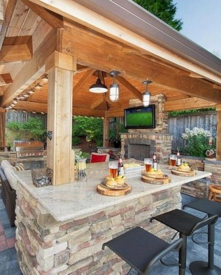 Luxury Outdoor Kitchen Design Ideas That Brings A Cleaner Looks 06