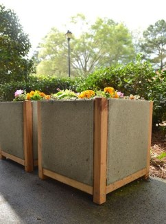 Relaxing Diy Concrete Garden Boxes Ideas To Make Your Home Yard Looks Awesome 06