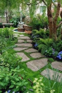 Delicate Garden Landscaping Design Ideas Using Rocks Stone To Try 10