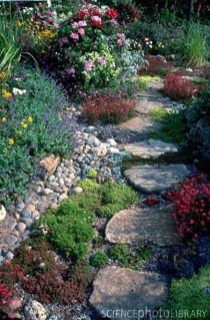Delicate Garden Landscaping Design Ideas Using Rocks Stone To Try 12