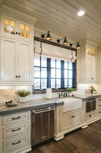 Elegant Farmhouse Kitchen Cabinet Makeover Design Ideas That Very Cozy 01