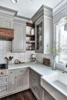Elegant Farmhouse Kitchen Cabinet Makeover Design Ideas That Very Cozy 08