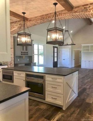Elegant Farmhouse Kitchen Cabinet Makeover Design Ideas That Very Cozy 16