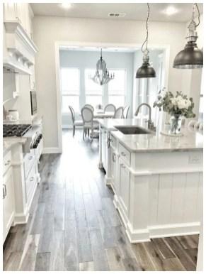 Elegant Farmhouse Kitchen Cabinet Makeover Design Ideas That Very Cozy 17