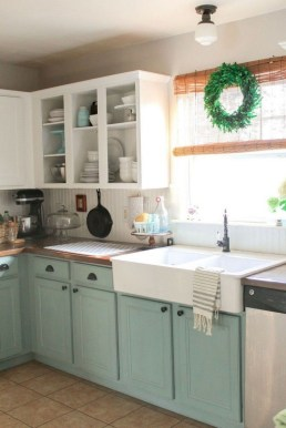 Elegant Farmhouse Kitchen Cabinet Makeover Design Ideas That Very Cozy 18