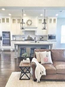 Elegant Farmhouse Kitchen Cabinet Makeover Design Ideas That Very Cozy 37