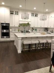 Elegant Farmhouse Kitchen Cabinet Makeover Design Ideas That Very Cozy 38