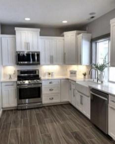 Elegant Farmhouse Kitchen Cabinet Makeover Design Ideas That Very Cozy 39