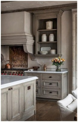 Elegant Farmhouse Kitchen Cabinet Makeover Design Ideas That Very Cozy 43