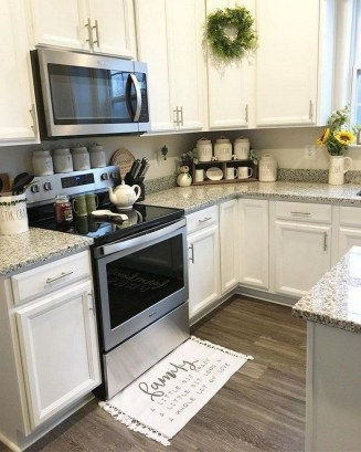Elegant Farmhouse Kitchen Cabinet Makeover Design Ideas That Very Cozy 45