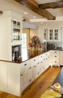 Elegant Farmhouse Kitchen Cabinet Makeover Design Ideas That Very Cozy 48
