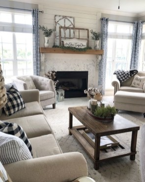 Gorgeous Farmhouse Living Room Makeover Decor Ideas To Try Asap 18