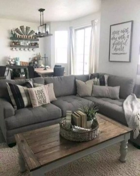 Gorgeous Farmhouse Living Room Makeover Decor Ideas To Try Asap 36