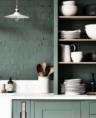 Sophisticated Home Decoration Ideas With Green Paint Combination 08