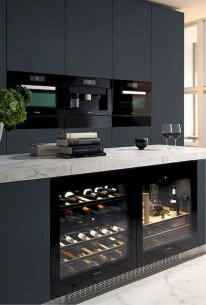 Stylish Black Kitchen Interior Design Ideas For Kitchen To Have Asap 03