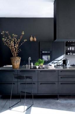 Stylish Black Kitchen Interior Design Ideas For Kitchen To Have Asap 08