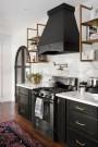 Stylish Black Kitchen Interior Design Ideas For Kitchen To Have Asap 35