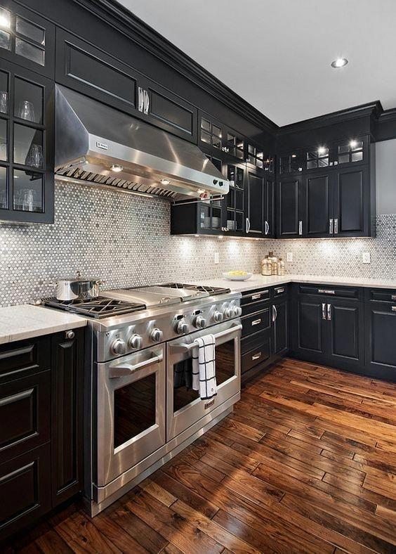Stylish Black Kitchen Interior Design Ideas For Kitchen To Have Asap 39