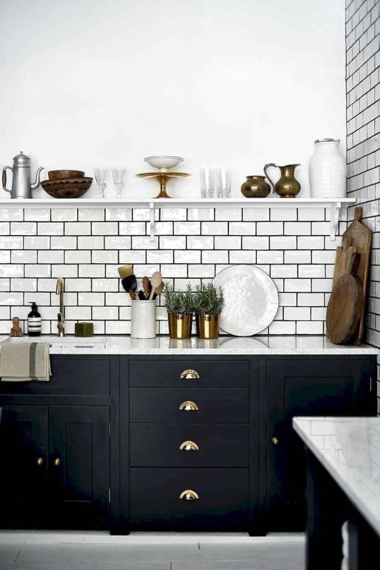 Stylish Black Kitchen Interior Design Ideas For Kitchen To Have Asap 40