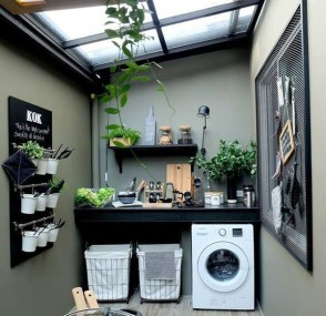 Inexpensive Tiny Laundry Room Design Ideas With Nature Touches 31