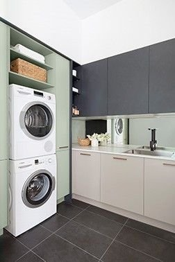 Inexpensive Tiny Laundry Room Design Ideas With Nature Touches 34