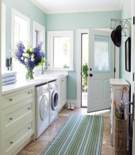 Inexpensive Tiny Laundry Room Design Ideas With Nature Touches 39