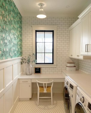 Inexpensive Tiny Laundry Room Design Ideas With Nature Touches 43