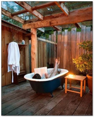 Sophisticated Outdoor Bathroom Design Ideas That Feel Like A Vacation 08
