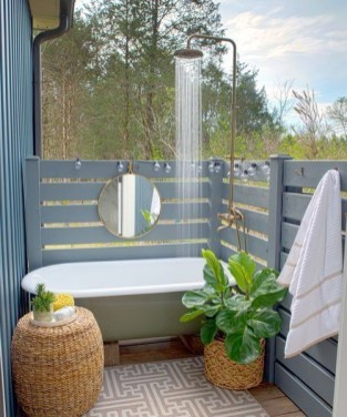 Sophisticated Outdoor Bathroom Design Ideas That Feel Like A Vacation 15