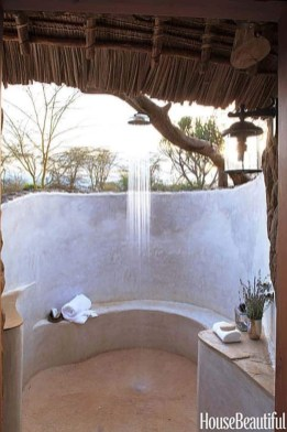 Sophisticated Outdoor Bathroom Design Ideas That Feel Like A Vacation 43