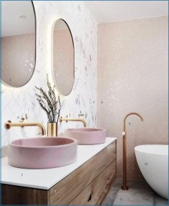 Sophisticated Pink Colors Design Ideas To Transform Your Bathroom 03