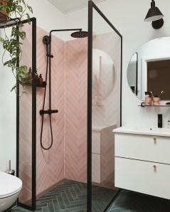 Sophisticated Pink Colors Design Ideas To Transform Your Bathroom 05