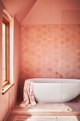 Sophisticated Pink Colors Design Ideas To Transform Your Bathroom 15