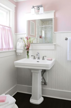 Sophisticated Pink Colors Design Ideas To Transform Your Bathroom 16