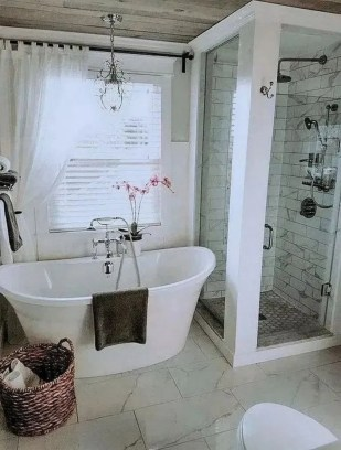 Sophisticated Pink Colors Design Ideas To Transform Your Bathroom 18