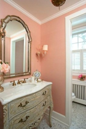 Sophisticated Pink Colors Design Ideas To Transform Your Bathroom 36