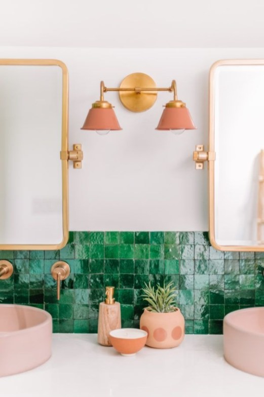 Sophisticated Pink Colors Design Ideas To Transform Your Bathroom 37