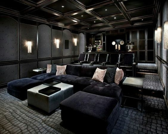 Best Minimalist Home Theater Design Ideas With Sofa Furnitures 04