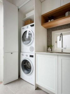 Best Tiny Laundry Spaces Design Ideas That So Functional 29