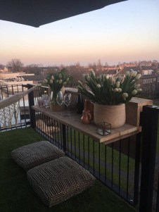 Comfy Balcony Design Ideas To Try Right Now 04