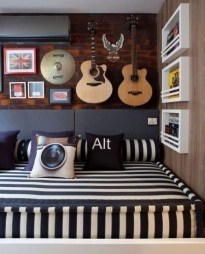 Cozy Bedroom Design Ideas With Music Themed That Everyone Will Like It 16