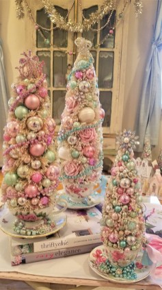 Pretty Pink Winter Tree Decorating Ideas That Looks So Awesome 06
