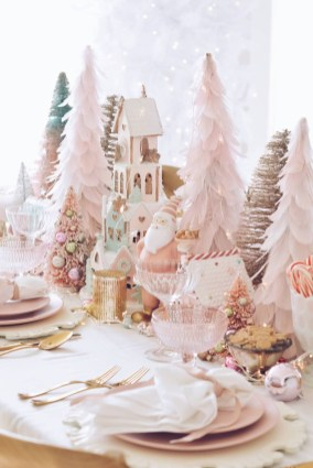 Pretty Pink Winter Tree Decorating Ideas That Looks So Awesome 16