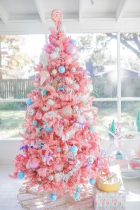 Pretty Pink Winter Tree Decorating Ideas That Looks So Awesome 17